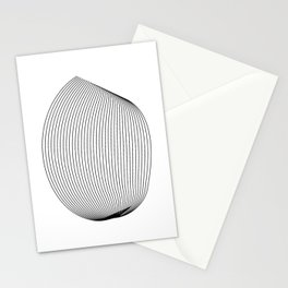 """""""Linear Collection"""" - Minimal Letter O Print Stationery Cards"""