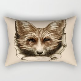 Hallo Fuchs! Mixed Media Art Rectangular Pillow
