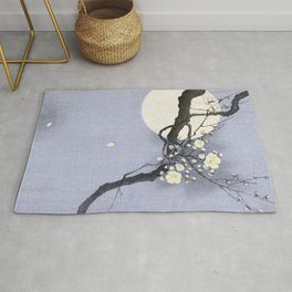 Full Moon and blossom Rug