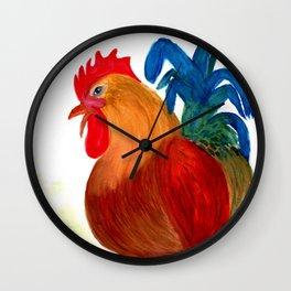 Fancy Rooster Wall Clock