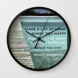 Path to Happiness Wall Clock