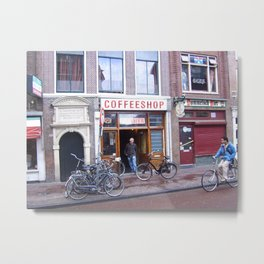 Amsterdam Coffeshop Metal Print
