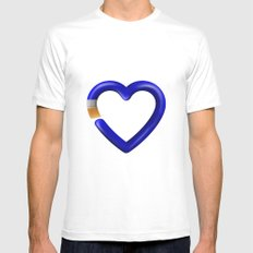 Love to paint White Mens Fitted Tee MEDIUM