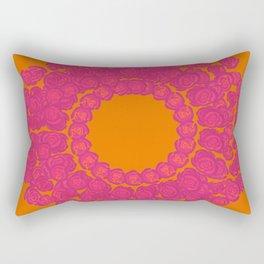 Pink Rose Wreath Rectangular Pillow