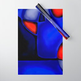 Abstraction in Lapis and Red Wrapping Paper