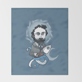 Jules Verne Holy Writer Throw Blanket