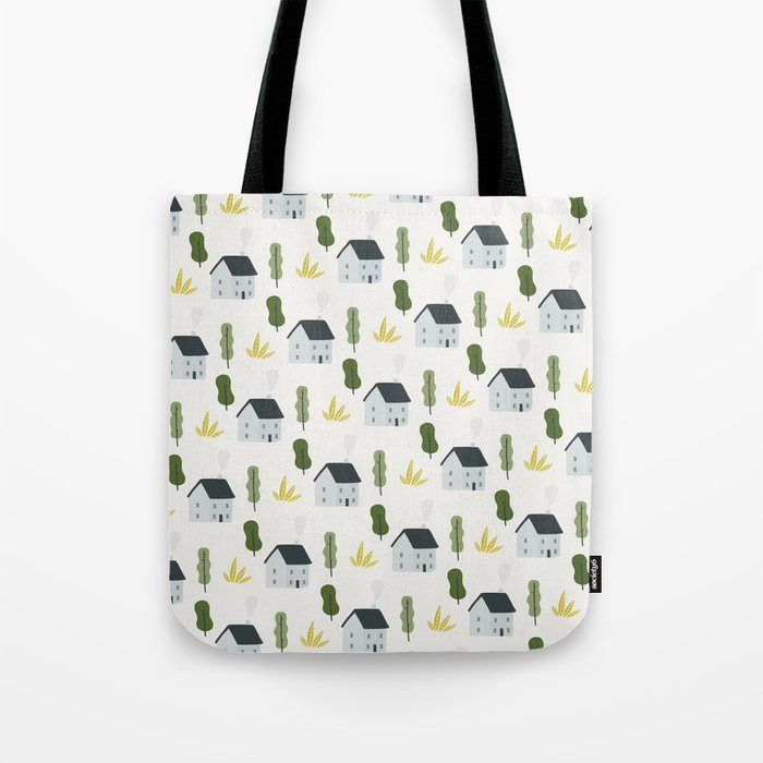 Home Pattern Tote Bag