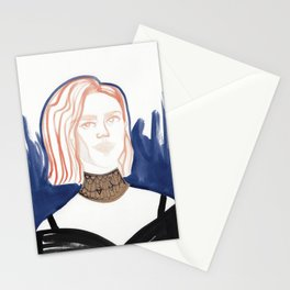 Evan with huge choker Stationery Cards