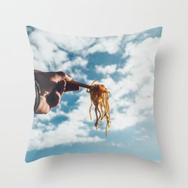 Soba! Fly high up! Throw Pillow