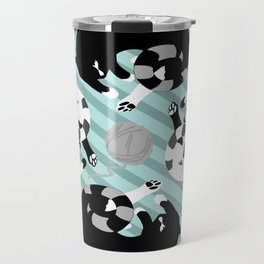 Black and White Cats Travel Mug