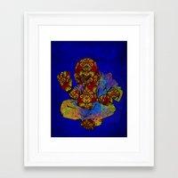 buddah Framed Art Prints featuring Buddah  by Darkhorse