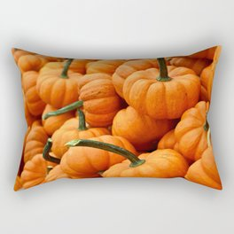 Autumn Pumpkins Rectangular Pillow