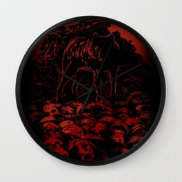 WOLFTHRONE Wall Clock