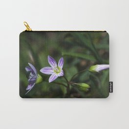 Spring Beauty Wildflowers Carry-All Pouch