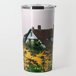 Portland Headlight and Flowers Travel Mug