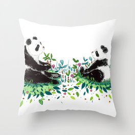 Peaceful Pandas Throw Pillow