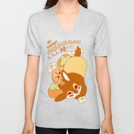 Jackalope and Persimmon Unisex V-Neck