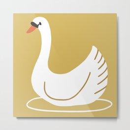 Happy swan Metal Print