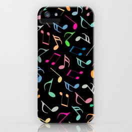 Music Colorful Notes II iPhone Case