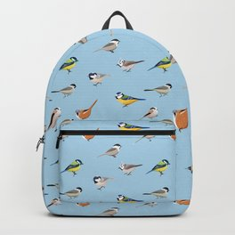 Tit Bird Pattern Gift Birdwatching Birding Birder Backpack