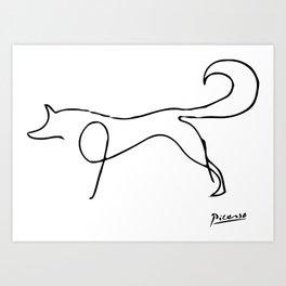 Pablo Picasso, The Fox, Animals Sketch, Artwork For Prints, Posters, Bags, Tshirts, Men, Women, Kids Art Print