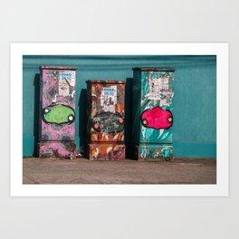 The three boxes. Art Print