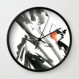 Bird2- Chinese Shui-mo (水墨) Wall Clock