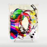 coco Shower Curtains featuring Coco Loco by Lynsey Ledray