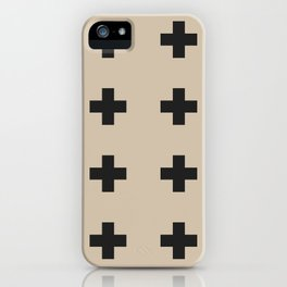 plus sign –tan (can pair with bonfire) iPhone Case
