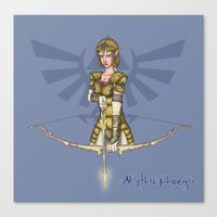 legend of zelda Canvas Prints featuring Zelda by MythicPhoenix