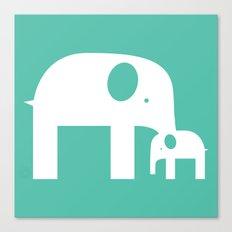Blue Elephants Canvas Print