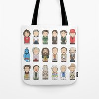 robin williams Tote Bags featuring Robin Williams  by Big Purple Glasses