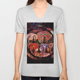 bright lights Unisex V-Neck