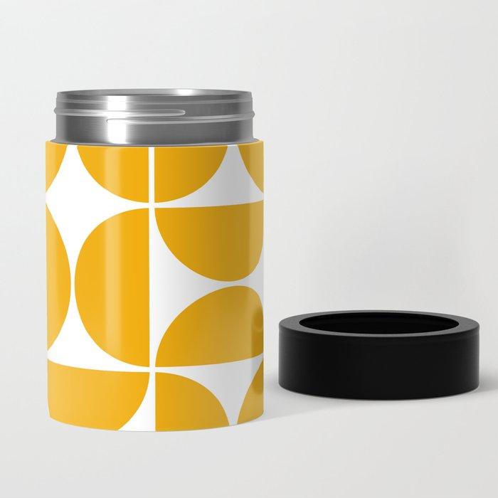Mid Century Modern Geometric 04 Yellow Can Cooler
