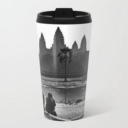 Three amigos enjoying the view of Angkor Wat Travel Mug