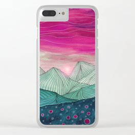 Lines in the mountains XIV Clear iPhone Case