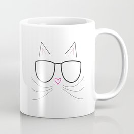 Nerdy Kitty Coffee Mug