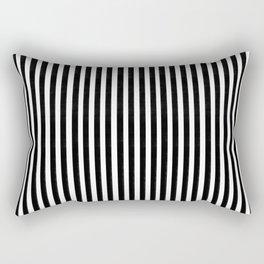 Home Decor Striped Black and White Rectangular Pillow