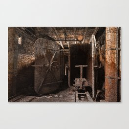 Rusty Grunge Silk Mill Canvas Print
