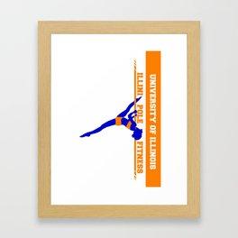 Illini Pole Fitness Logo Framed Art Print
