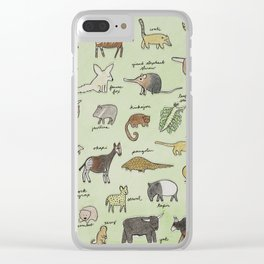 The Obscure Animal Alphabet Clear iPhone Case