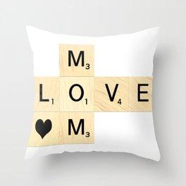 MOM - Mother's Day Scrabble Art Throw Pillow