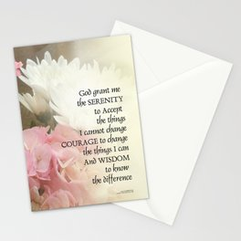 Serenity Prayer Bouquet Stationery Cards