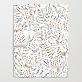 Abstraction Linear Rainbow Poster
