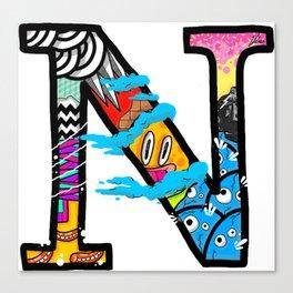 initial N Canvas Print