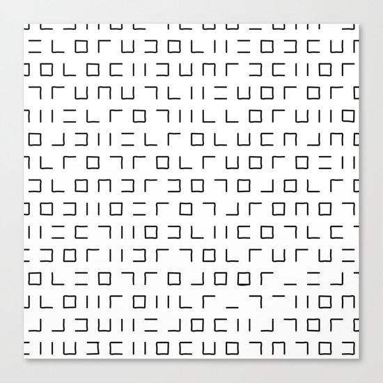 Code Breaker - Abstract, black and white, minimalist artwork Canvas Print