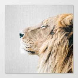 Lion Portrait - Colorful Canvas Print