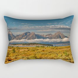 TheGrand Teton National Park in the Fall Panorama Rectangular Pillow