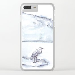 Heron and the Hudson Clear iPhone Case
