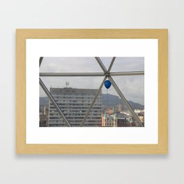 the trapped balloon story Framed Art Print